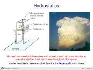 We need to understand the environment around a moist air parcel in order to determine whether it will rise or sink thro