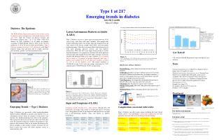 Emerging Trends  — Type 1 Diabetes