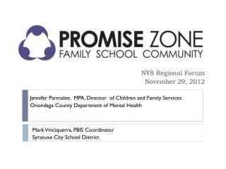 NYS Regional Forum November 29, 2012