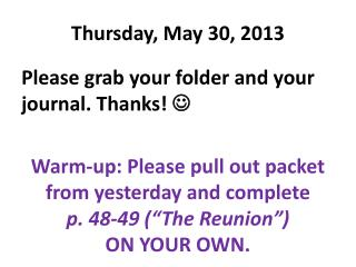 Thursday, May 30, 2013