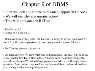 Chapter 9 of DBMS