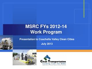 MSRC FYs 2012-14 Work Program