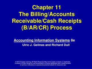 Chapter 11 The BillingAccounts ReceivableCash Receipts BAR ...