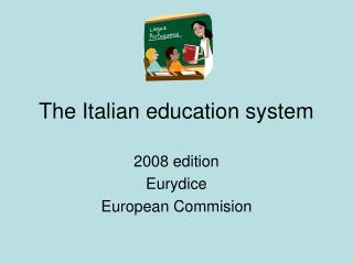 The Italian education system