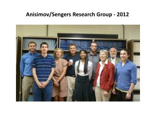 Anisimov/Sengers Research Group - 2012