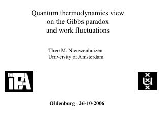 Quantum thermodynamics view on the Gibbs paradox and work fluctuations