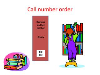Call number order