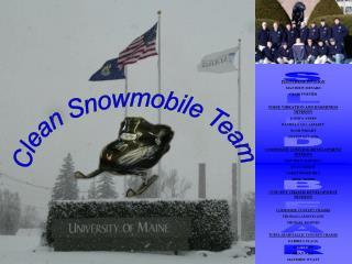 Clean Snowmobile Team