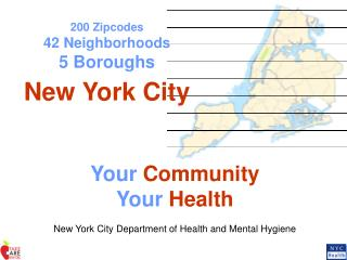 200 Zipcodes 42 Neighborhoods 5 Boroughs New York City