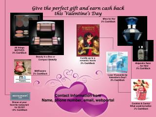 Give the perfect gift and earn cash back  this Valentine's Day
