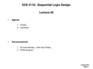 ECE 4110� Sequential Logic Design