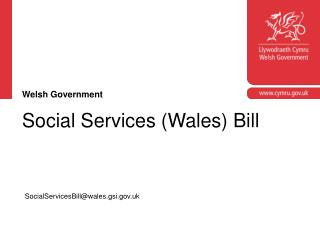 Social Services (Wales) Bill