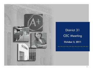 District 31  CEC Meeting October 3, 2011