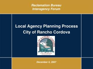 Reclamation Bureau Interagency Forum