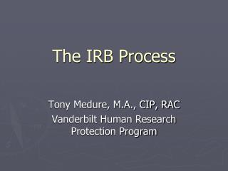 The IRB Process
