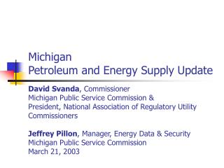 Michigan Energy Expenditures Total $ 19.8 Billion