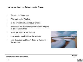Introduction to Petrozuarta Case