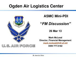"ASMC Mini-PDI  "" FM Discussion"" 26 Mar 13"