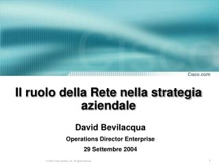 Il ruolo della Rete nella strategia aziendale