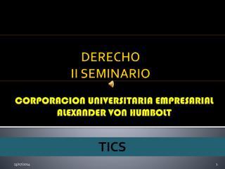 DERECHO II SEMINARIO