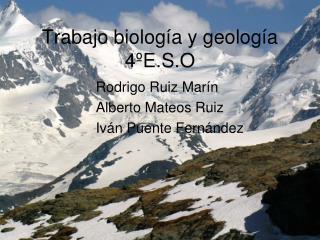 Trabajo biología y geología  4ºE.S.O