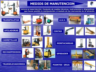 MEDIOS DE MANUTENCION