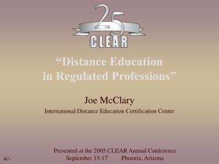 """Distance Education  in Regulated Professions"""