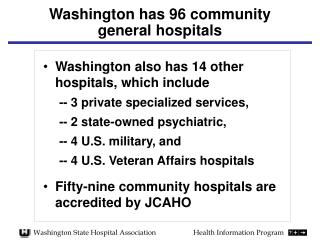 Washington has 96 community general hospitals