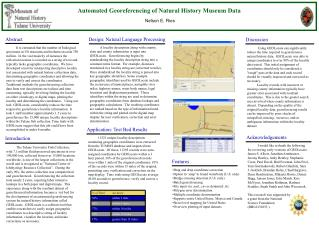 Poster presented at the 2003 NSCA meeting and the 2003 ASIH ...