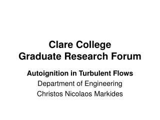 Clare College Graduate Research Forum
