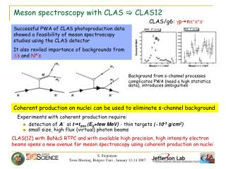 Meson spectroscopy with CLAS  [  CLAS12