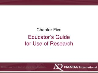 Educator's Guide for Use of Research