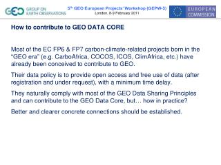 How to contribute to GEO DATA CORE