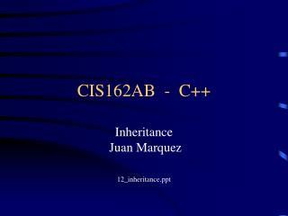 CIS162AB  -  C++