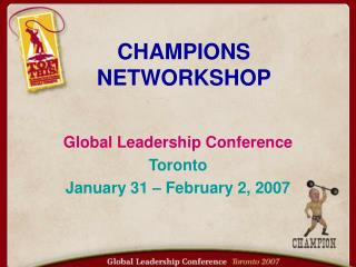 CHAMPIONS NETWORKSHOP