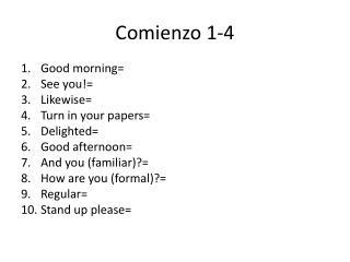 Comienzo 1-4