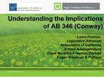 Understanding the Implications of AB 346 Conway