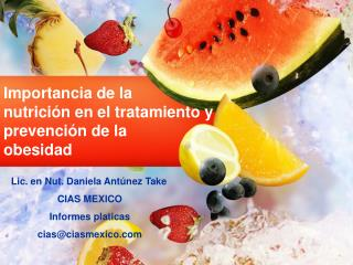 Importancia de la  nutrición en el tratamiento y prevención de la  obesidad