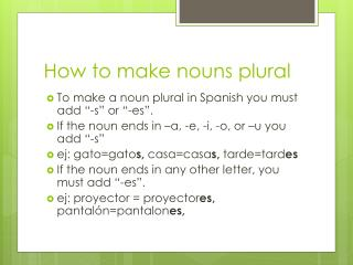 How to make nouns plural
