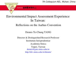 Environmental Impact Assessment Experience  In Taiwan: Reflections on the Aarhus Convention