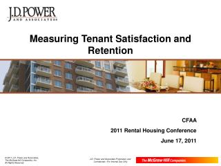 Measuring Tenant Satisfaction and Retention