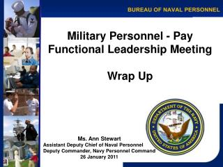 Military Personnel - Pay Functional Leadership Meeting Wrap Up