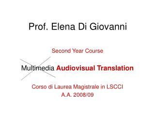 Prof. Elena Di Giovanni