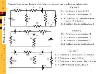 C1.1. Corriente en la fuente de 10 V.