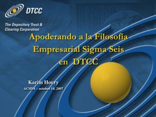 Glynis Aquino, DTCC Donald Wiiken, DTCC
