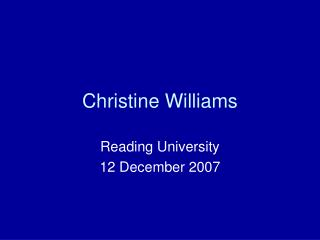 Christine Williams
