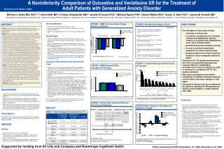 A Noninferiority Comparison of Duloxetine and Venlafaxine XR for the Treatment of  Adult Patients with Generalized Anxi