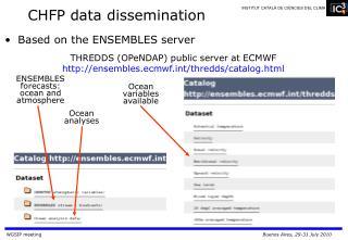 CHFP data dissemination