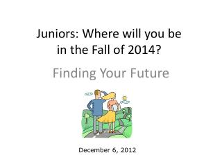 Juniors: Where will you be  in the Fall of 2014?