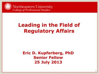 Leading in the Field of Regulatory Affairs